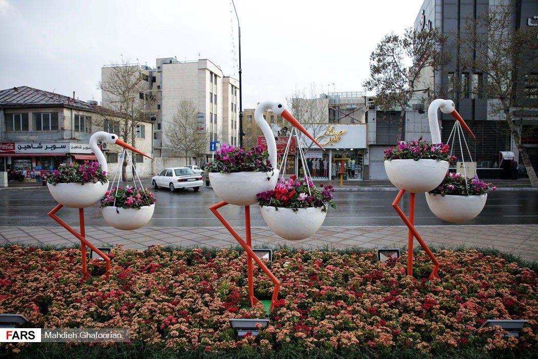 گلدان مدرن فایبرگلاس برای فضای شهری و زیبا سازی