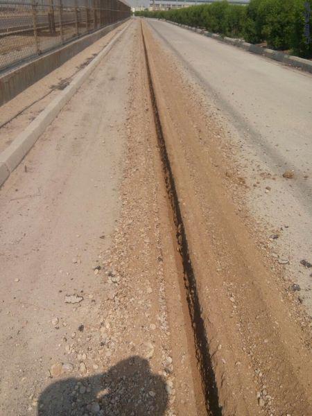 برش و تراش آسفالت ترنچر کاتر و حفر کانال