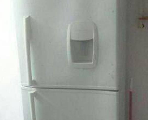یخچال فریزر آب سرد کن دار رنگ سفید