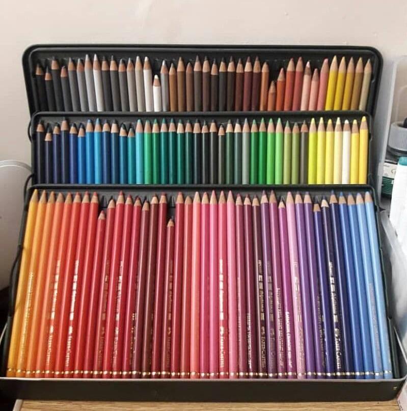 مداد رنگی پلی کروم فابرکاستل 120رنگ