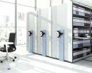 قفسه بندی متحرک و ثابت ریلی -جهان بایگان-قفسه ریلی-بایگانی ریلی-کمدریلی