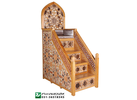 منبر چوبیمسجد،نمازخانه,حسینیه,امامزاده,مصلی سنتی گره چینی