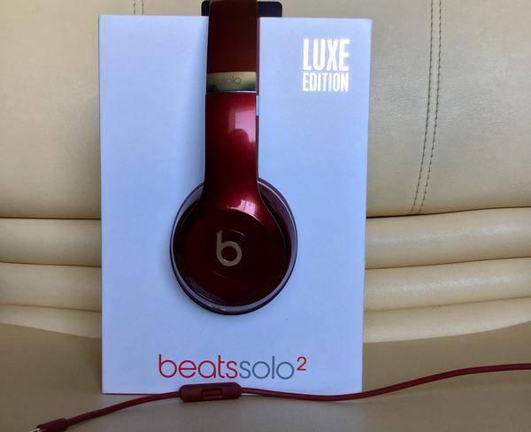 هدفون Beats solo2 luxe edition red