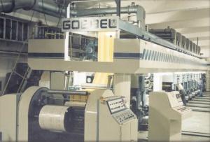 فروش دستگاه چاپ روتوگراور(هلیو) گوبل ساخت آلمان با قیمت مناسب