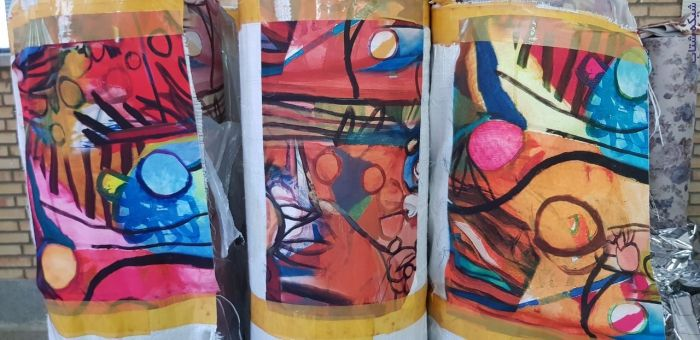 فروش کاغذ چاپ ترانسفر در طرح ها و رنگ های متنوع در رولهای ۵۰۰ متری