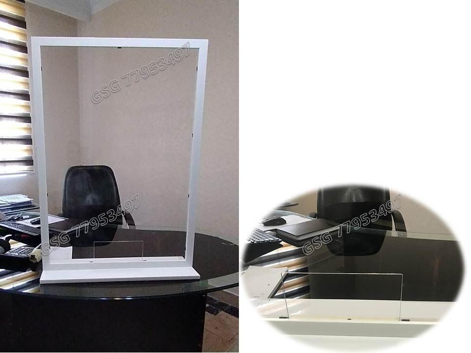 بادیگارد طلقی جهت صندوق دار، محافظ فروشنده با شیلد شفاف، ساخت باکس طلقی