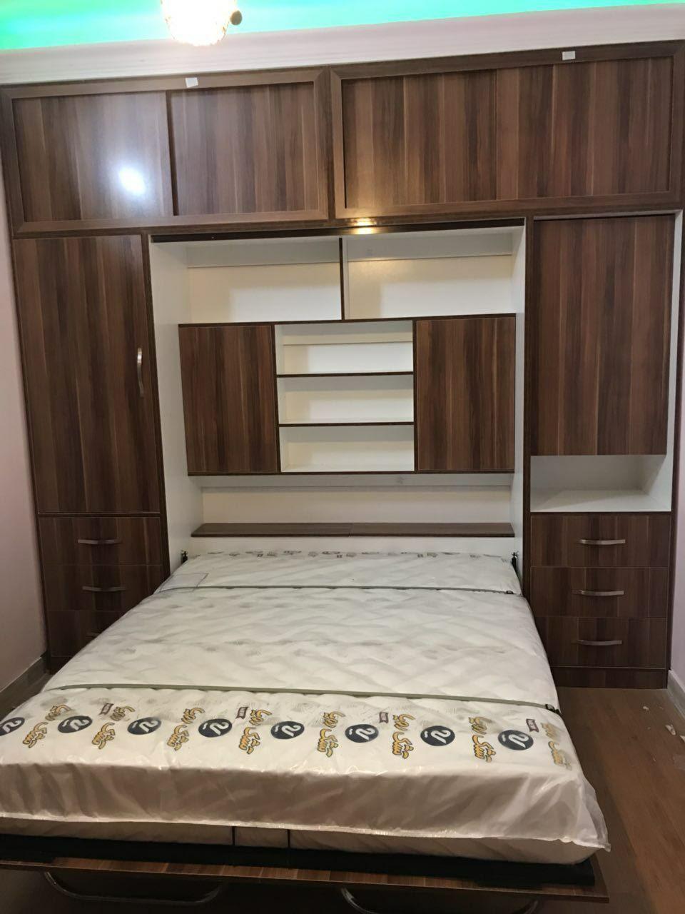 تخت کمجا دیواری ام دی اف/تخت تاشو دیواری ام دی اف/سرویس خواب/تخت دو طبقه