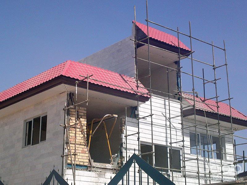 اجرای پوشش سقف شیبدارفلزی-شیروانی-آردواز-پوشش سقف سوله-خرپا