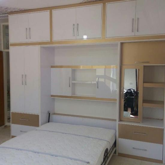 تخت کمجا /تخت تاشو/سرویس خواب/کمد /کمد دیواری/میز