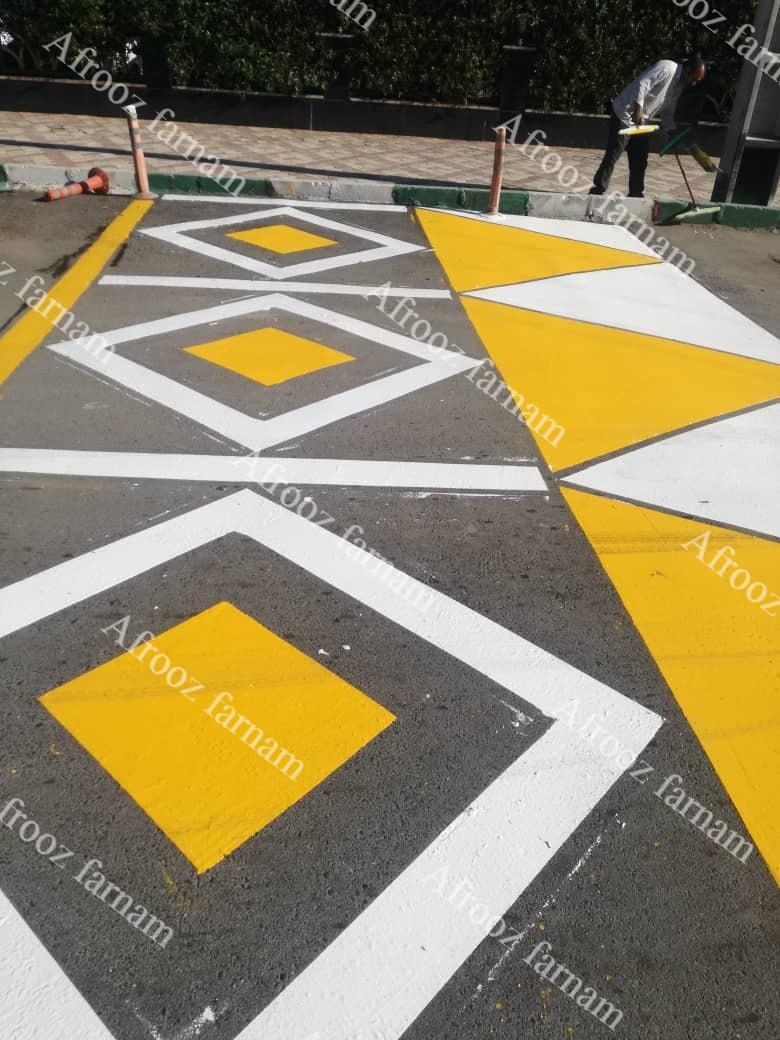 تولیدکننده و مجری رنگ های ترافیکی جدولی صنعتی ساختمانی